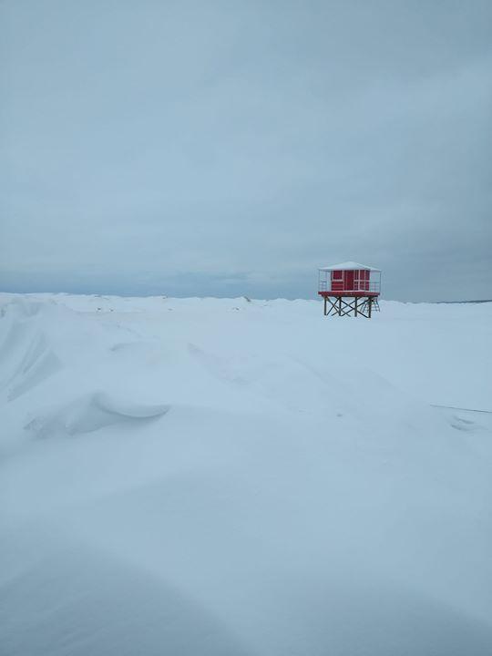 Lake Michigan at Washington Park Saturday afternoon after Winter Storm Mateo.